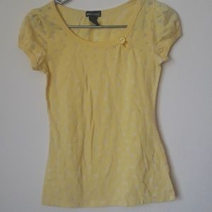 Wet seal yellow heart tshirt size small